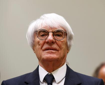 Formula One chief executive Bernie Ecclestone arrives in court in Munich April 24, 2014