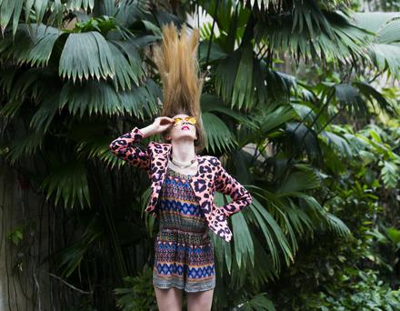 A model wears Penneys' clothes from their summer collection