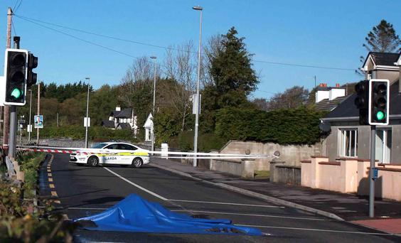 The scene of the fatal hit and run on the Gort Road in Loughrea