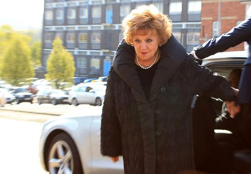 Coronation Street actress Barbara Knox arrives at Macclesfield Magistrates' Court