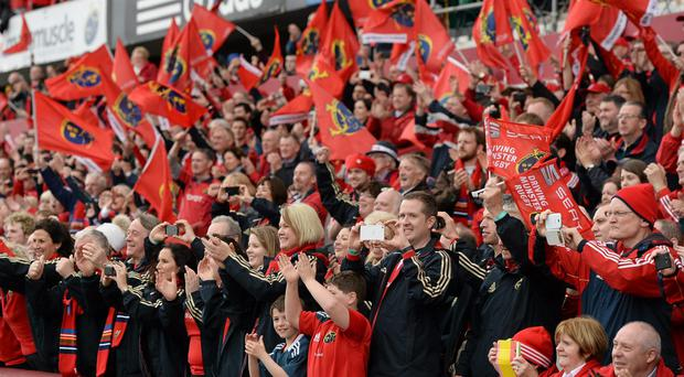 Munster supporters in Thomond Park