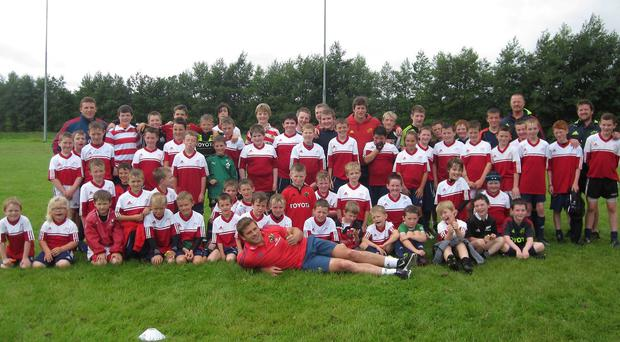 CJ Stander pictured at the Newcastle West summer camps