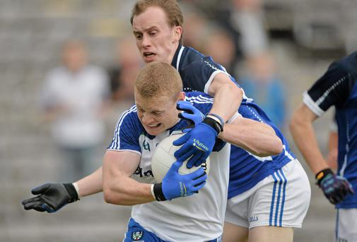 Colin Walshe will be absent for Monaghan on Sunday after aggravating a hamstring injury. Photo: Brendan Moran / SPORTSFILE
