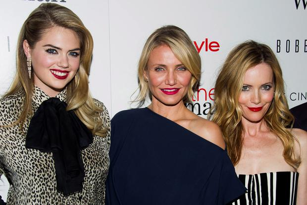 Kate Upton, from left, Cameron Diaz and Leslie Mann attend the premiere of