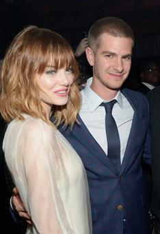 Emma Stone and Andrew Garfield attend the after party for