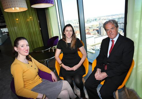 Pictured at the launch today were Jennifer Dillon, Cuisine Royale Manufacturing, Ruth McEntee, Programme Coordinator, Google and Aidan Cotter, Chief Executive, Bord Bia. Credit Gary O' Neill