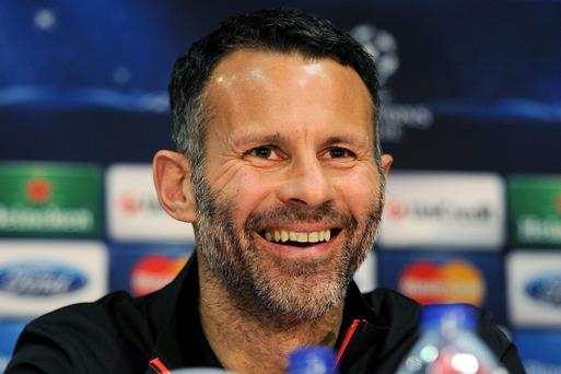Manchester United's Ryan Giggs during his first press conference at Old Trafford as interim manager