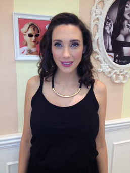 TV3's Michelle Doherty looking radiant before the awards ceremony. Photo: Twitter/ @Benefit_IRE