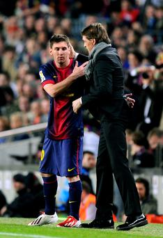 Leo Messi has led the tributes to Tito Vilanova.
