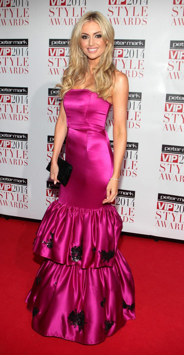 Rosanna Davison  at tonight's Peter Mark Vip Style Awards. Photo: Brian McEvoy