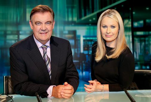 Bryan Dobson and Sharon Ni Bheolain of RTE