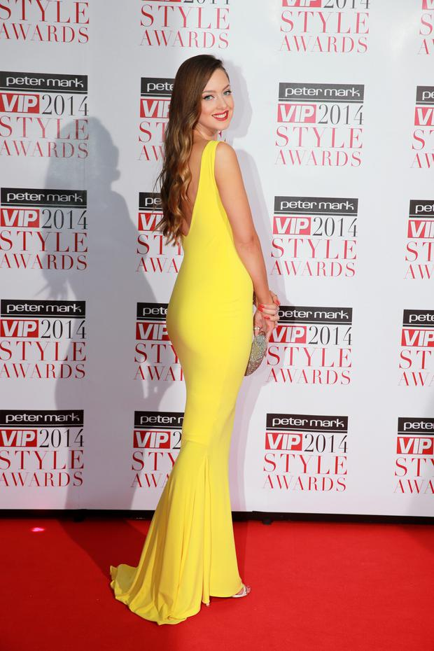 25/4/14 Emma Waldron at the 2014 VIP Style Awards at the Marker Hotel, Dublin. Picture:Arthur Carron