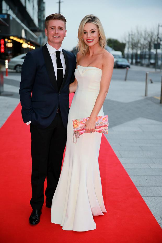 25/4/14 Brian Ormond and Pippa O'Connor at the 2014 VIP Style Awards at the Marker Hotel, Dublin. Picture:Arthur Carron