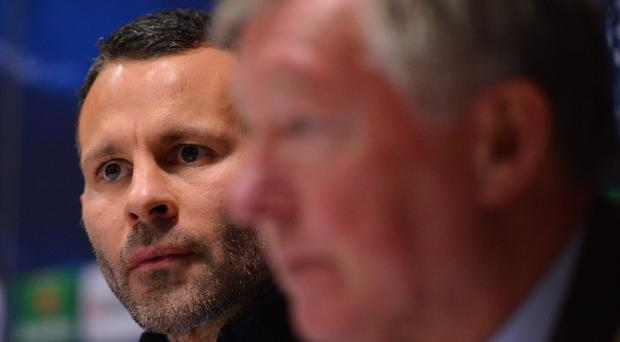 Ryan Giggs and Alex Ferguson during their time together at Manchester United.