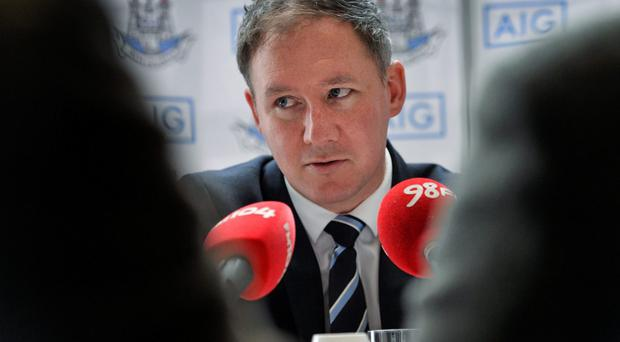 Dublin manager Jim Gavin is eyeing a place in the history books with a win over Derry tomorrow. Photo: David Maher / SPORTSFILE