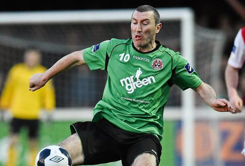 Jason Byrne scored the equaliser for Bohemians against Cork City last night. Photo: David Maher / SPORTSFILE