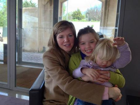 Ellie Silva (centre) with mum Candice Gannon and sister Olivia