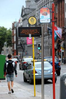 A man was knocked unconscious at Crampton Court, just off Dame Street last Sunday