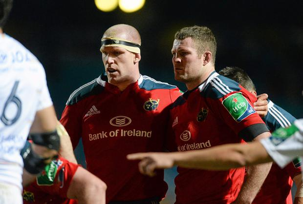 The scrum will be a key area of focus for Munster if they are to have a chance, but perhaps crucially Donnacha Ryan (right) will be absent for the Reds. Photo: Diarmuid Greene / SPORTSFILE