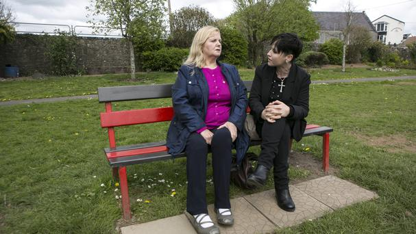 Dolores O'Riordan with her mum Eileen in Bruff, Co Limerick. Picture: Kyran O'Brien