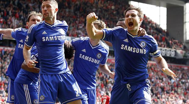Chelsea's Frank Lampard says Chelsea believe they can win the Premier League after Anfield victory.