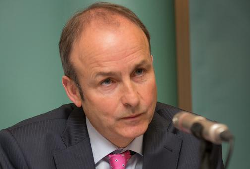 Fianna Fail leader Micheal Martin said beef farmers were paying a heavy price