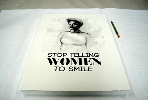 The Stop Telling Women to Smile street art project is making its way around the globe