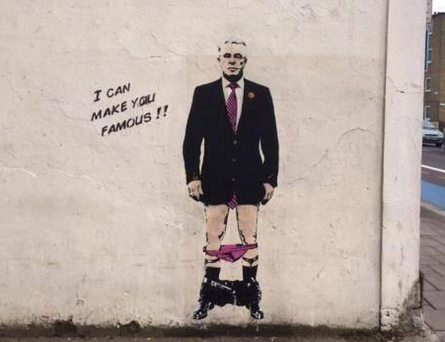 Banksy's depiction of Max Clifford