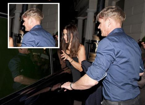 Gordon Ramsay left Victoria Beckham's party at 2am with his wife Tana. Inset: Gordon Ramsay's dodgy hair-do