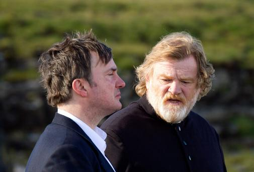 Dylan Moran with Brendan Gleeson in Calvary