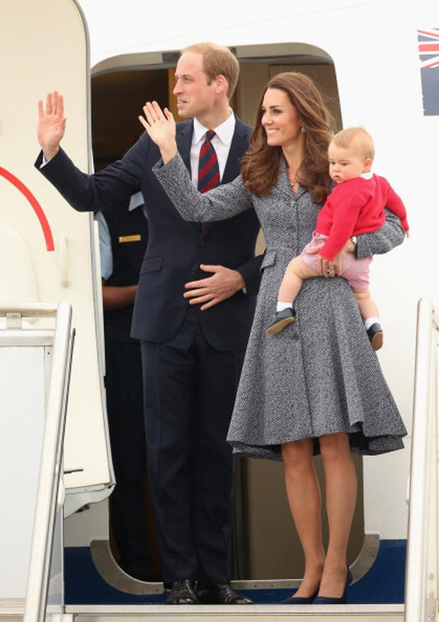Kate, Duchess of Cambridge, Prince William, Duke of Cambridge and Prince George of Cambridge (Photo by Chris Jackson/Getty Images)