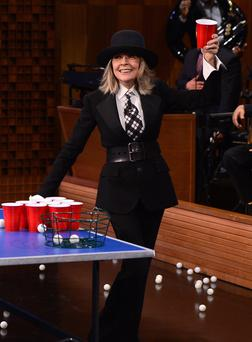 Diane Keaton visits 'The Tonight Show Starring Jimmy Fallon' at Rockefeller Center in New York City