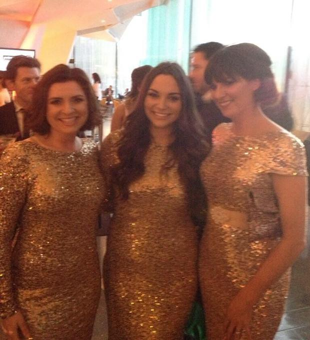 Colette Fitzpatrick, Caitlin McBride and Melanie Finn at the VIP Style Awards last Friday.