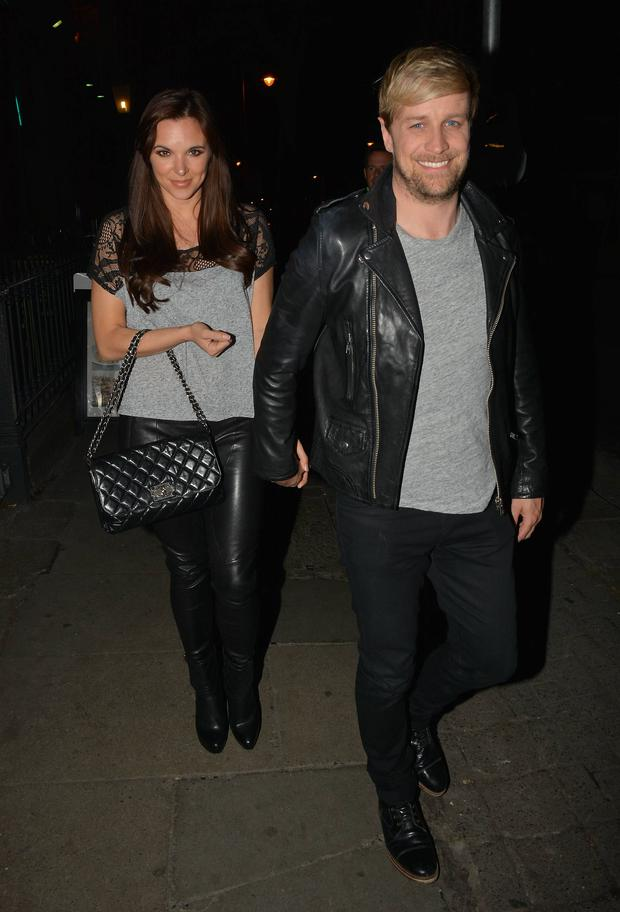 Kian Egan & Jodi Albert at The Voice of Ireland wrap party at No 37 Dawson Street