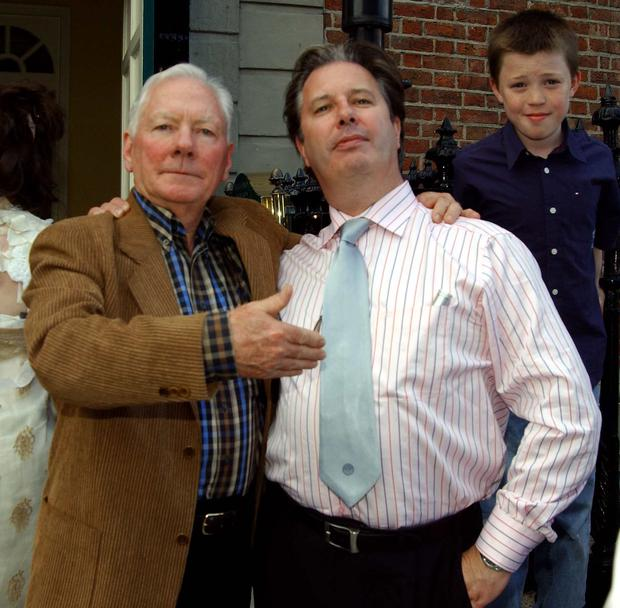 Gay Byrne at Gerry Ryan's 50th Birthday Party in Shanahan's Restaurant on St Stephen's Green, 2006