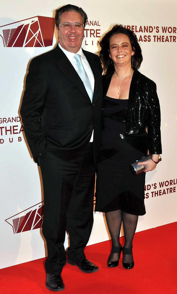 Gerry and his partner Melanie Verwoerd at the opening night of Swan Lake at The Grand Canal Theatre, October 2010.