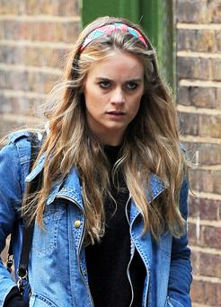 Cressida in London's Soho today. Picture: FameFlynet
