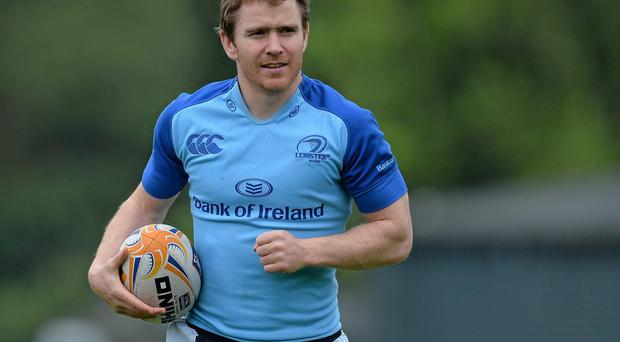 Leinster's Eoin Reddan training in preparation for tomorrow's Pro12 game against Ulster. Photo: Ramsey Cardy / SPORTSFILE