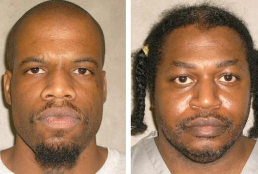Death row inmates Clayton Lockett and Charles Warner. Lockett's botched execution led to Warner's execution to be postponed.