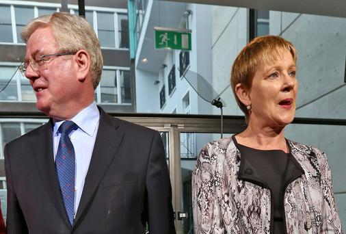Eamon Gilmore and Phil Prendergast