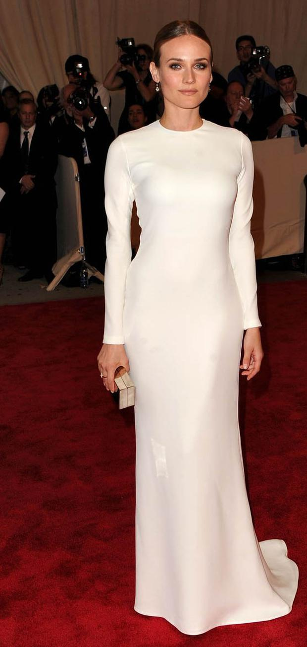 NEW YORK - MAY 03: Actress Diane Kruger attends the Costume Institute Gala Benefit to celebrate the opening of the