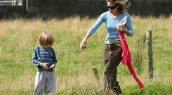 SJP with her son in Donegal
