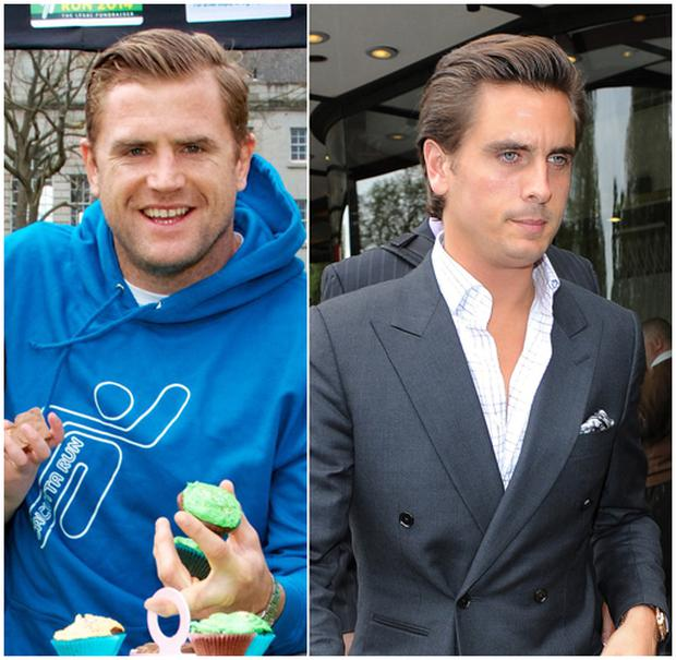 Jamie Heaslip (left) and Scott Disick (right) bear a striking resemblance