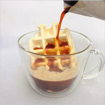 Dominique Ansel's newest creating the waffogato