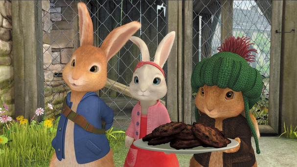 A scene from Peter Rabbit. Photo: Twitter/@BrownBagFilms