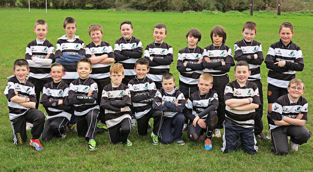 Presentation U11s who will play at half time in the Munster Juniors v Connacht Juniors interprovincial match on May 10 at Presentation RFC