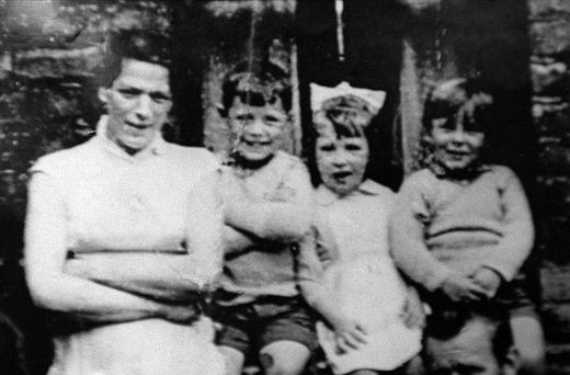 Jean McConville (left) with three of her children before she vanished in 1972