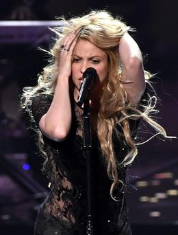 Singer Shakira performs onstage during the 2014 iHeartRadio Music Awards held at The Shrine Auditorium on May 1, 2014 in Los Angeles, California. iHeartRadio Music Awards are being broadcast live on NBC. (Photo by Kevin Winter/Getty Images for Clear Channel)