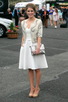 Amy Huberman at the Punchestown 2014 festival. Photo: Gareth Chaney Collins