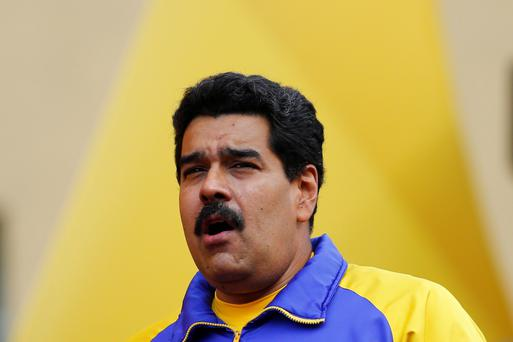 Venezuela's President Nicolas Maduro attends a May Day rally with workers in Caracas May 1, 2014. Reuters/Jorge Silva